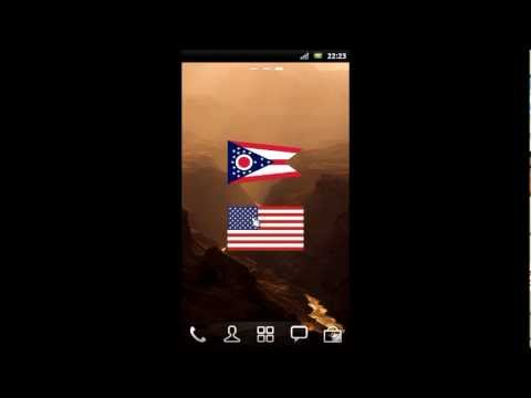 Video of USA Flags Widget