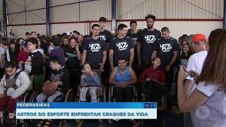 Jogo solidário reúne astros do Bauru Basket e alunos da Apae de Pederneiras