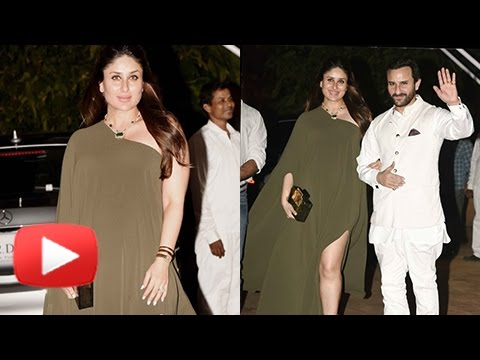 Pregnant Kareena Kapoor Poses In Thigh High Slit D