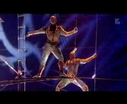 CIRQUE - A creation of Elena Lev's father, Andrei Lev (the same for Mystere's act). THIS IS FANTASTIC!! Enjoy!