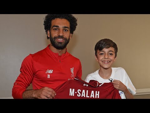 Young Fan's Dream Comes True As Mohamed Salah Drops In | Make-A-Wish Foundation