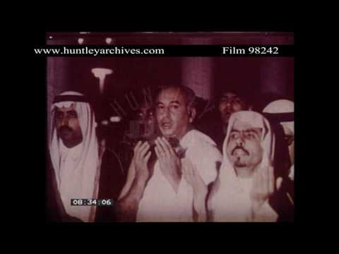 Video King Feisal greets President Bhutto.  Archive film 98242 download in MP3, 3GP, MP4, WEBM, AVI, FLV January 2017