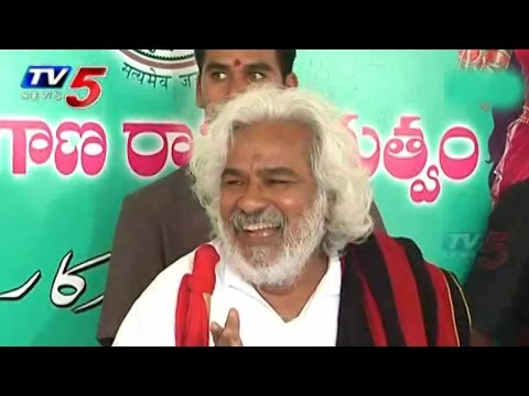 Gaddar Talks to Media Over Telangana Development : TV5 News