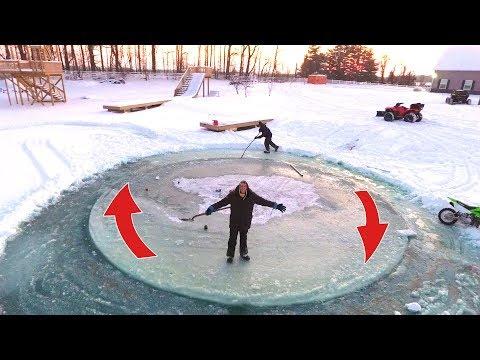 AMAZING SPINNING ICE ISLAND!! (видео)