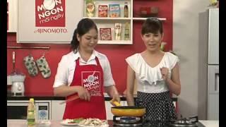 Món ngon mỗi ngày - Cua nấm xào măng tây