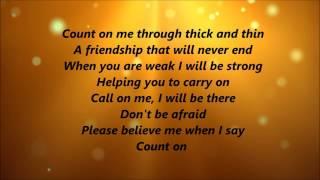 Whitney Houston and CeCe Winans - Count On Me (Lyrics)