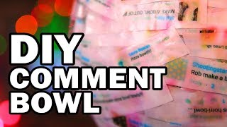 DIY Comment Bowl Made From Comments About Bowls - Man Vs Bowl