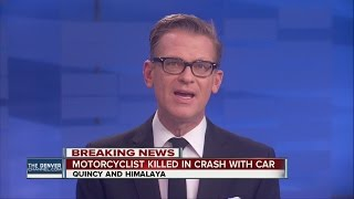 Motorcyclist killed in crash with car in Aurora