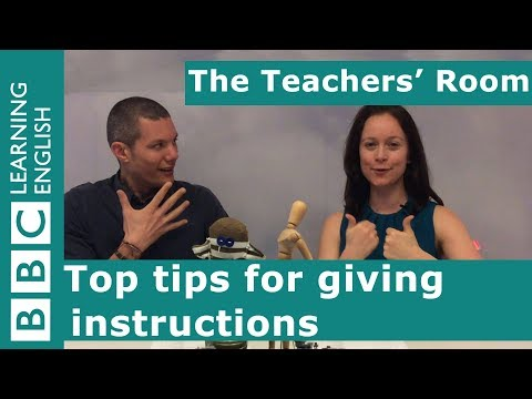 The Teachers' Room: Top tips for giving instructions
