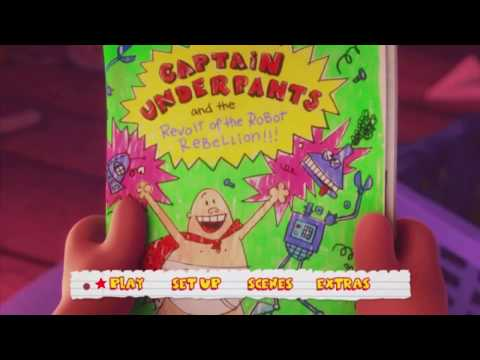 Captain Underpants: The First Epic Movie (2017) Menu DVD HD