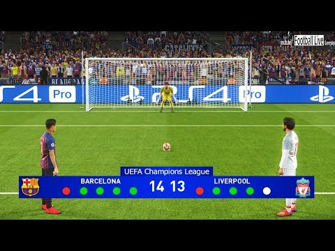 Pes 2019 | Barcelona Vs Liverpool | Penalty Shootout | Uefa Champions League (ucl) | Gameplay Pc