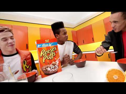 reeses - Check out my music in this cool Reese's Puffs commercial. I made the track out of breakfast noises (crunching, cereal box shaking, milk pouring, spoon hittin...