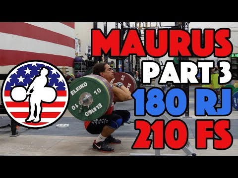 Harrison Maurus Part 3/11 Pre 2017 WWC Training 180kg Rack Jerk 210kg Front Squat [4k60]