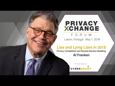 Al Franken Speaks for First Time Since Leaving Senate at Privacy XChange Forum 2018