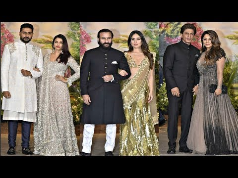Bollywood Couples At Sonam Kapoor Wedding Reception
