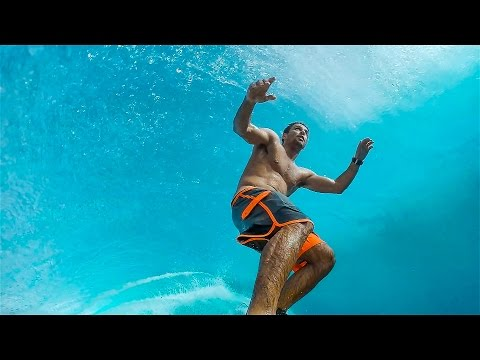 Seeing This Surfer Stand Underneath The Barrel Of The Wave Is Totally Surreal