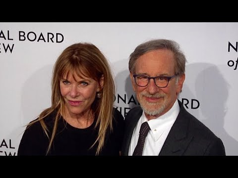 Steven Spielberg and his wife attend the 2018 National Board of Review Awards Gala