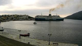 Port of Gavrio Time-lapse Saturday,  29 November 2014