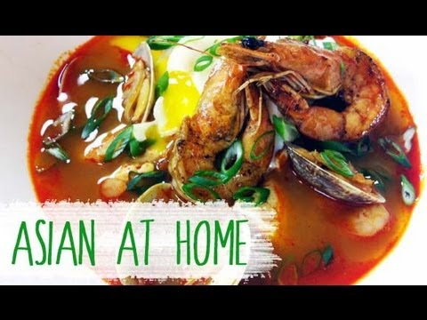 Soup Recipe : Silken Tofu Soup with Seafood Recipe (Soups) : Korean Cuisine : Asian at Home