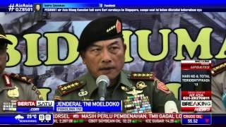 Panglima TNI Ajak Keluarga Korban AirAsia Tabur Bunga