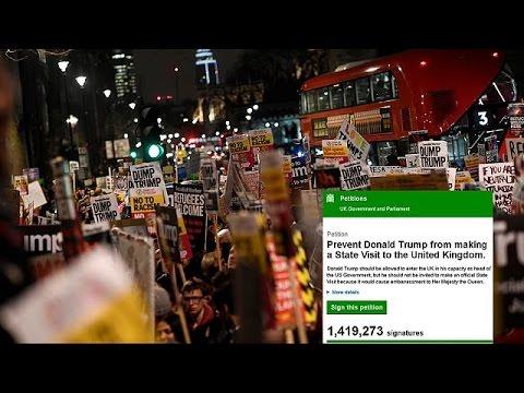 Μ. Βρετανία: Ξεπέρασαν το 1 εκ. οι υπογραφές για να μην επισκεφθεί το Λονδίνο ο Τραμπ