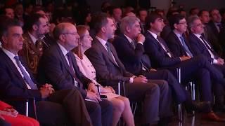 Llegada de S.M. el Rey a la entrega de los Premios de Periodismo Rey de España