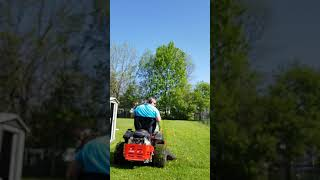 "3. Simplicity Courier 42"" Zero Turn mower at new clients rental property"