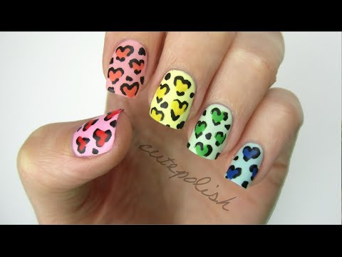 Video Of The Week: Rainbow, Leopard And Clouds Nail Art