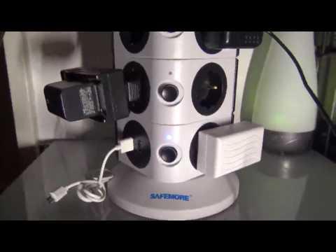 Safemore 15 Fach schaltbare Steckdosenleiste Steckdosenturm Mehrfachsteckdose, genug Platz auf klein