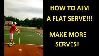 In this video, Coach Daniel shows you how to get your flat serve on plane to be able to control the serve better, so that you can make more serves!