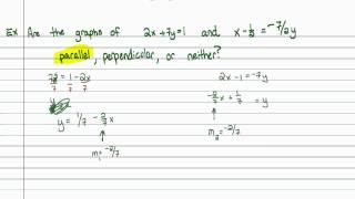 Intermediate Algebra - Additional Properties of Lines (Part B)