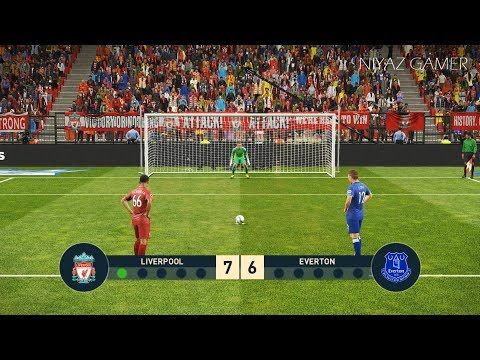 LIVERPOOL Vs EVERTON | Penalty Shootout | PES 2019 Gameplay PC