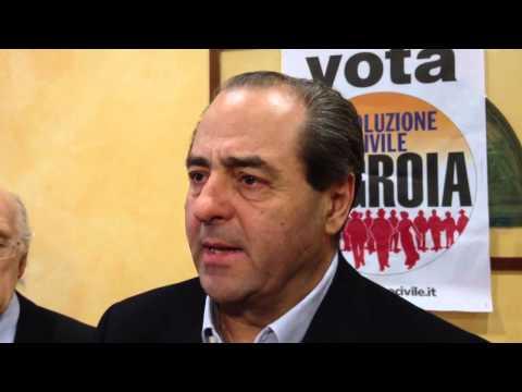 """Di Pietro: """"In Lombardia in Ambrosoli"""""""