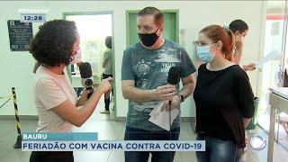Saúde realiza Dia D em Bauru para aplicação da primeira dose contra Covid-19
