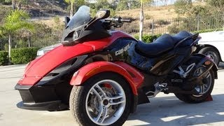 6. 09 Can Am Spyder BRP Bombardier Trike SE5 Motorcycle Roadster Sport Bike Video Review