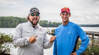 Brandon Cobb and Clark Reehm put a bow on practice for the Forrest Wood Cup on Lake Murray.