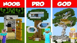 Video Minecraft NOOB vs PRO vs GOD: Modern Tree House CHALLENGE in Minecraft / Animation MP3, 3GP, MP4, WEBM, AVI, FLV Februari 2019