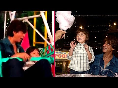 SRK's Son AbRam Enjoys Cotton Candies, Plays On Gi
