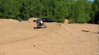 7. honda crf 100 and crf 80 hiting jumps!