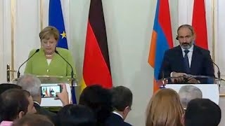 German Chancellor Angela Merkel Visit to Armenia