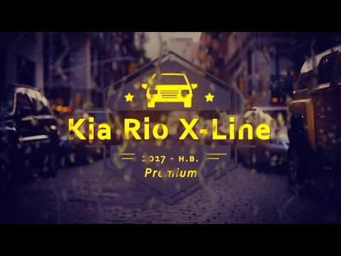 "Чехлы на Kia Rio X-Line, серии ""Premium"" - серая строчка"