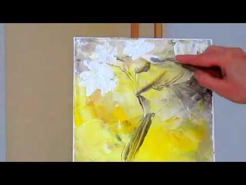 Техника рисовать акрилом