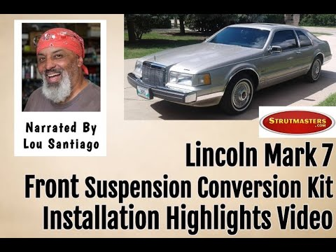 1984-1992 Lincoln Mark VII Front Air Spring Conversion Installation