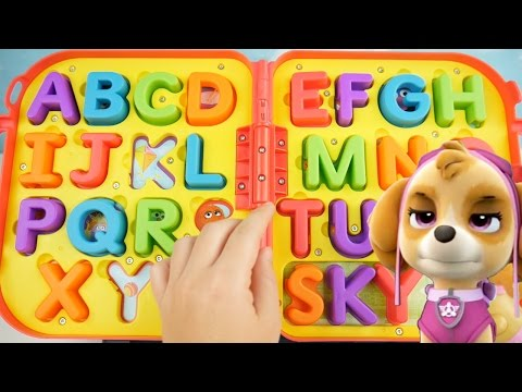 Learn ABC Letters and Alphabet with Elmo On The Go Spelling Kids Playset Toddler Paw Patrol Learning