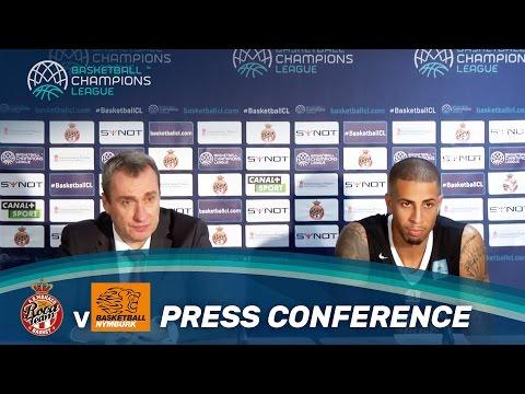 Conférence de Presse : AS Monaco v CEZ Nymburk - Basketball Champions League
