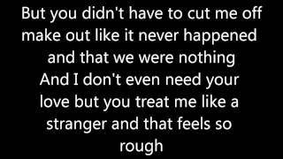 Somebody That I Used to Know- Gotye ft. Kimbra (Lyrics)