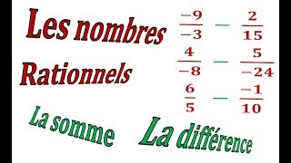 Maths 3ème - Les nombres rationnels Addition et Soustraction Exercice 17