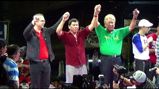Duterte, Cayetano kick off rally in Tondo