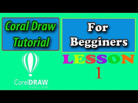Coral Draw Lesson 1 For Beginners | Basics