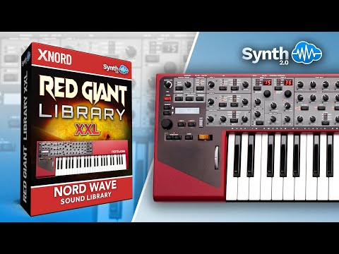 Red Giant Library - XXL Bundle - Sound Bank for Nord Wave (Synthcloud Library) (видео)